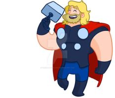 THOR by TheCartoonLoon