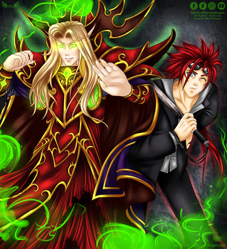 Kael and Reno Commission by ImHisEternalAngel