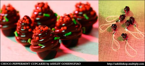 Chocopeppermint Cupcake Charms by orangeish