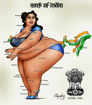 Map of India by oupelay