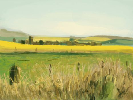 Landscape speed painting 2 by JawadSparda
