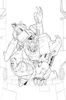 Galvatron Cover Lines by glovestudios