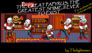 The Great Papyrus Shimeji From Undertale by Thelightsmen