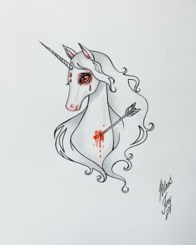 The Last Unicorn by BlackFurya