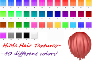 HiME Hair Textures by TwilightMarth
