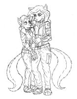 Ishmael and madeline by Benjamin-the-Fox