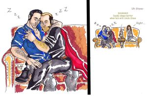 Steve x Danno H50 halloween 30mins later by puking-mama