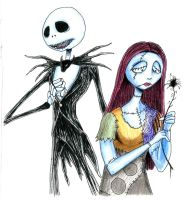 Jack and Sally by CrazyBassist