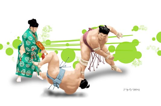 Sumo Wrestling by 0130
