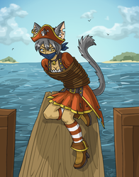 Be off with ye captain meows by AlkseeyaKC