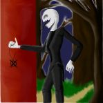 The Slenderman sketch colored by AgentMaryland93
