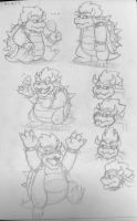Bowser Doodles by pheonix548