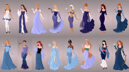Animated Ladies In Blue by autumnrose83
