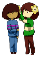 [Request] Chara and Frisk by Maxlad
