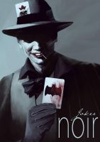 Batman Noir - The Joker by bumhand