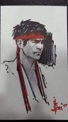 Index card scribbles at booth 4630 ryu by FUNKYMONKEY1945