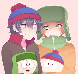 South Park COLLAB w/SecretNarcissist - Speed Paint by LemonPoppySeedMuffin