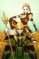 The Clown Prince of Asgard by AndrewKwan
