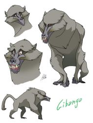 Gibanga the olive baboon by H-GALLERY