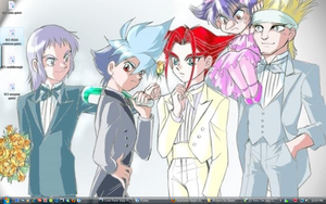 Tuxedos on My Desktop by BeybladerSteph-chan