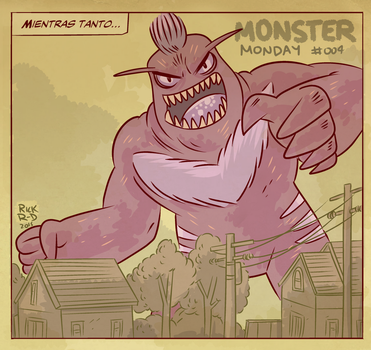 Monster Monday 004- Giant Evil Monster by rickruizdana