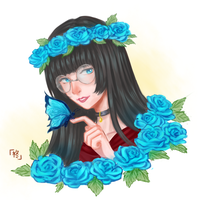 [request] Girl with Flowers 3 by HiiragiAzayaka