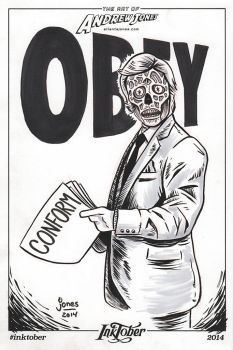 Inktober Day 3: They Live by AtlantaJones