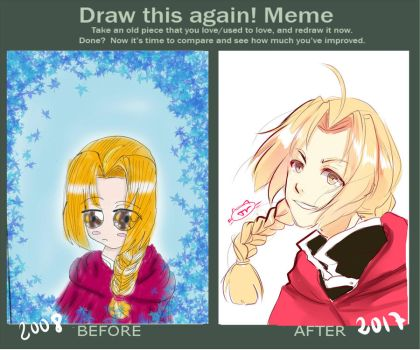 Draw this again Edward Elric by TacToki