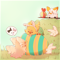 easter bunny's not gonna be happy abt this by bisqitsu