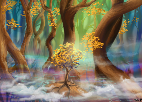 whimsical Forest by Maybellez