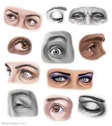 Eye studies by JeffSearle