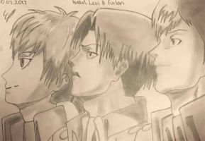 Isabel, Levi and Furlan // AOT by 1999emily