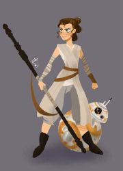 Rey and BB8 by linxchan91