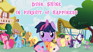 Dusk shine in pursuit of Happiness - Cover Page by BigSnusnu