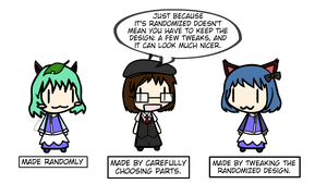 On using random characters... by Spaztique
