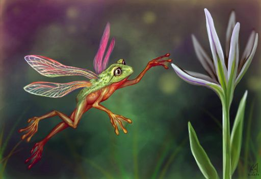Fairy Frog by Sukeile