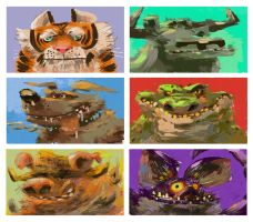 FreshPaint Animals by galgard