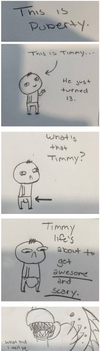 This is Puberty Timmy by stayingfrosty