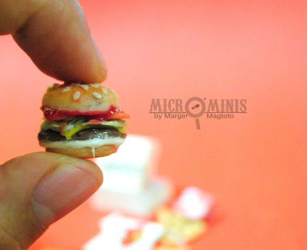 Jollibee Champ Inspired Burger Miniature by margemagtoto