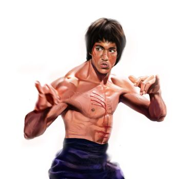 Bruce Lee's battle call by A-BB