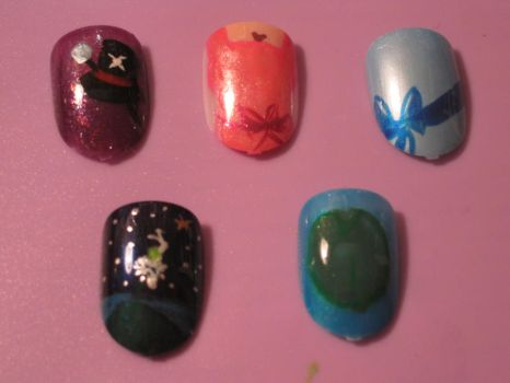 Princess and the Frog Nails by hatterlet