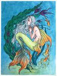 Mermay 2017, watercolor painting by MKmiec