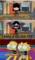 Lola as Lucy scares Bart and Lisa by MarcosPower1996