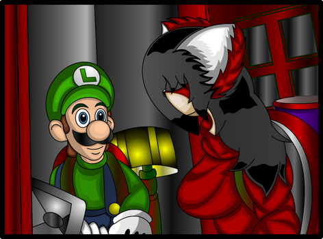 The reunion  plumber  and raccoon girl by cuat21