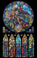 Harry Potter Stained Glass Illustration by nenuiel