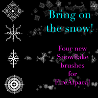 Snowflake brushes FireAlpaca pack 3 by Mo-fox