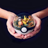 Poke Ball Terrarium - Halloween Pikachu - Medium by TheVintageRealm