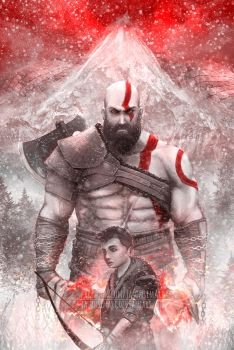 Kratos and Atreus by JasonsimArt