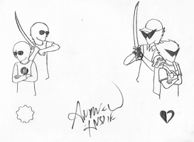 Dave and Dirk signed by Andrew Hussie by Itachisfangirl