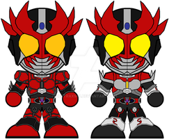 Chibi Kamen Rider Agito Burning and Shining Forms by Zeltrax987